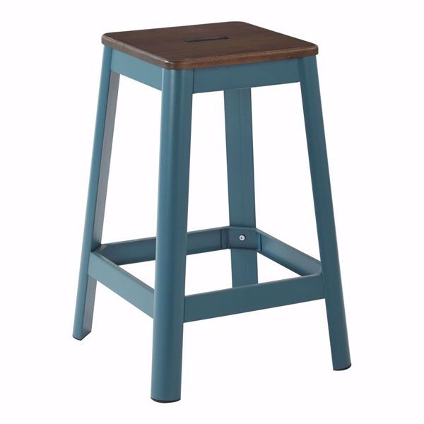 Picture of Hammond 26in DK WD Mtl Frosted Teal Barstool *D