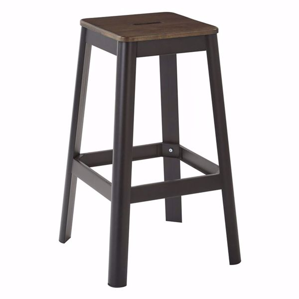 Picture of Hammond 30-Inch DK WK Mtl Frosted Black Barstool *D