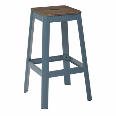 Picture of Hammond 30-Inch DK WD Mtl Frosted Teal Barstool *D