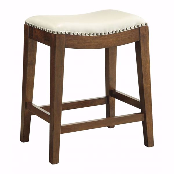 Picture of Cream Nail Head 24-Inch Saddle Stool *D
