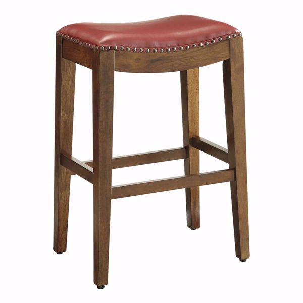 Picture of Cranberry Nail Head 29In Saddle Stool *D