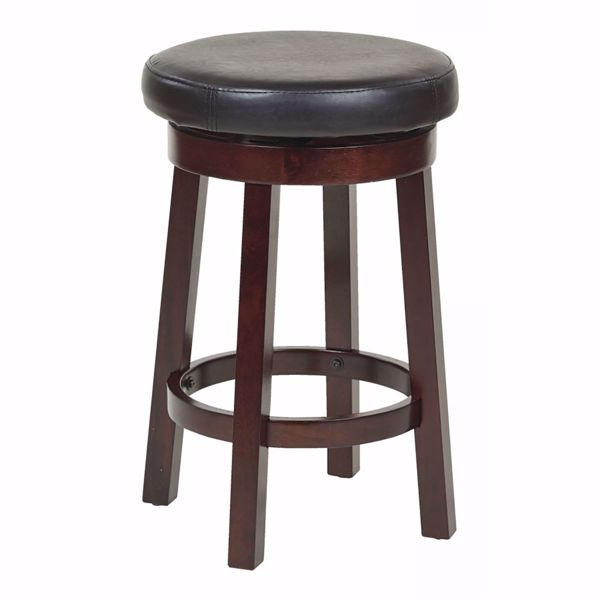 Picture of Black Metro 24-Inch Round Barstool *D