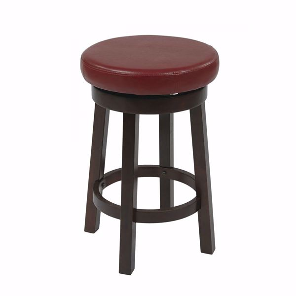 Picture of Red Metro 24-Inch Round Barstool *D