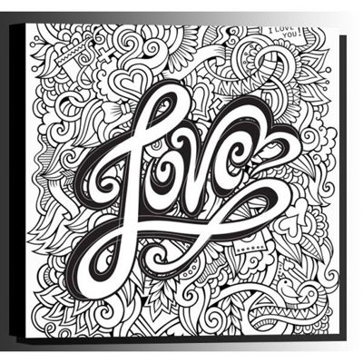 Picture of Color Your Own Canvas- Love 16x16 *D