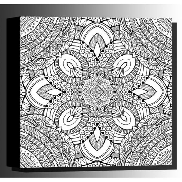 Picture of Color Your Own Canvas-Kaleidoscope 16x16 *D