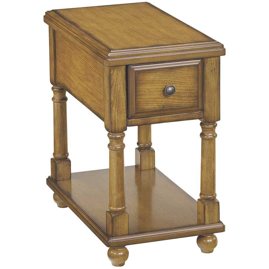 Picture of Breegin Distressed Brown Chairside End Table