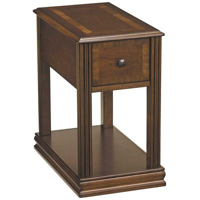 Picture of Breegin Cherry Brown Chairside End Table