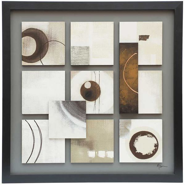 Picture of Nine Square Abstract Canvas Wa