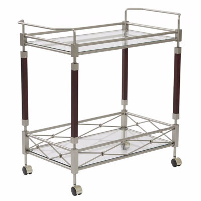 Picture of Melrose Nickel Serving Cart *D