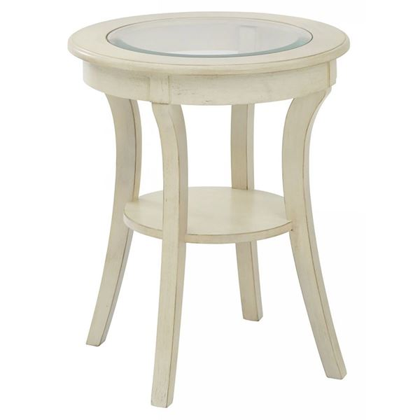 Picture of White Harper Round Accent Table *D