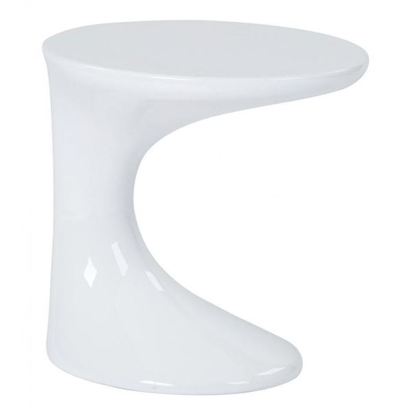 Picture of Slick White Side Table *D