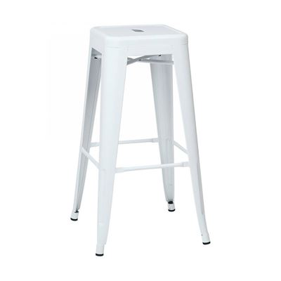 Picture of 30-Inch Mtl White Backless Stool, 2-Pack *D