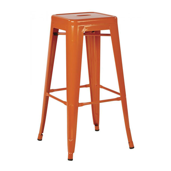 Picture of 30-Inch Mtl Orange Backless Stool, 2-Pack *D