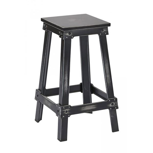Picture of Black Newcastle 26in Mtl Stool *D