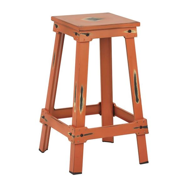 Picture of Orange New Castle 26in Mtl Stool *D