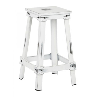 Picture of White New Castle 26in Mtl Stool *D