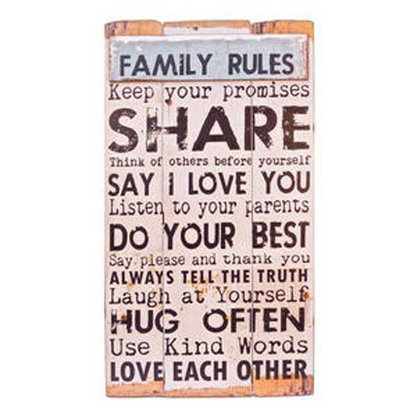 Picture of Family Rules Wall Decor