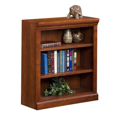 Picture of Burnish Oak Bookcase, 2 Shelf