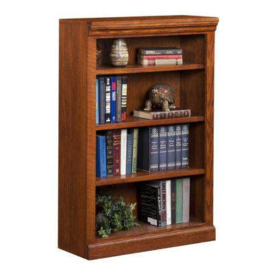 Picture of Burnish Oak Bookcase, 3 Shelf