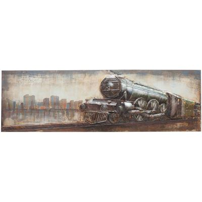 Picture of Metal Freight Train Wall Decor