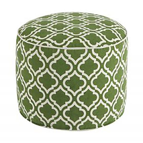 Picture of Green Geometric Pouf *D