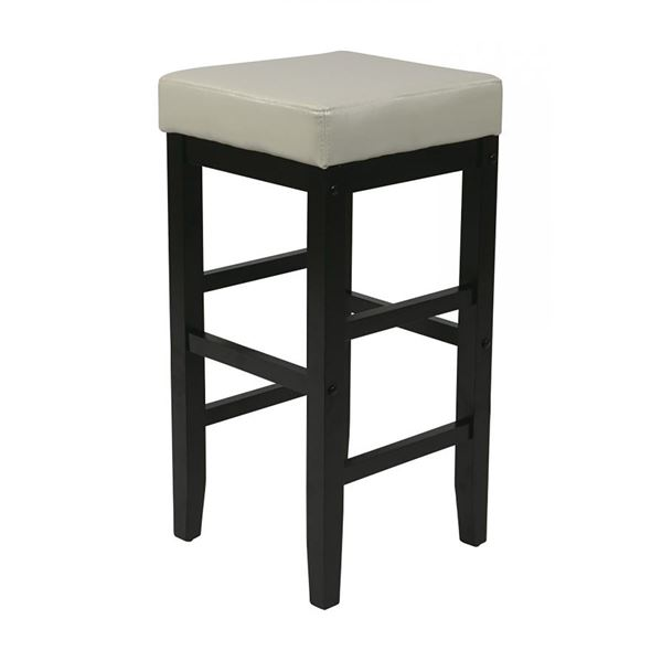 Picture of 25-Inch Squareuare Cream Faux Leather Barstool *D