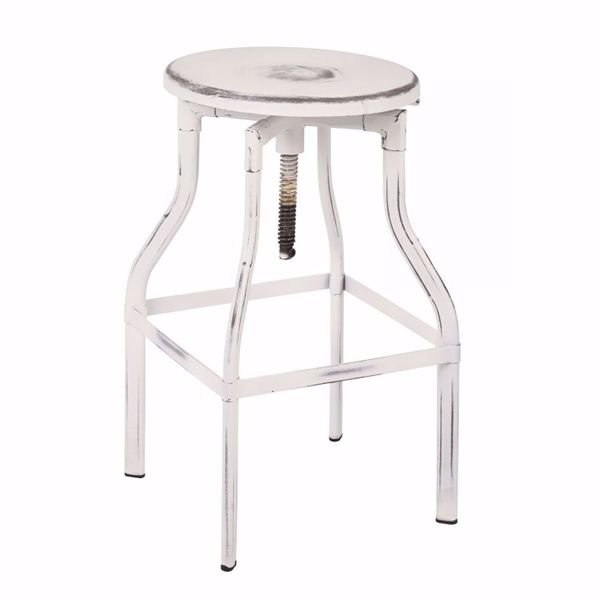 Picture of Eastvale 30-Inch MTL Barstool Antique White Finish *D
