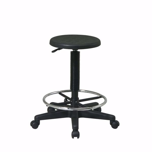 Picture of Black Stool W/ Adjustable Footrest *D