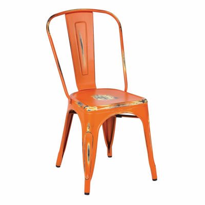 Picture of Bristow Orange Armless Chair, 2-Pack *D