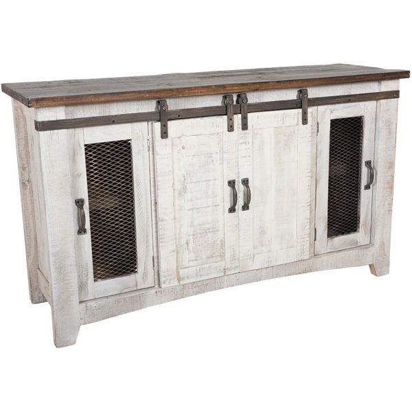 """Picture of Pueblo 60"""" Barn Door TV Stand"""