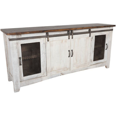 "Picture of Pueblo 80"" Barn Door TV Stand"