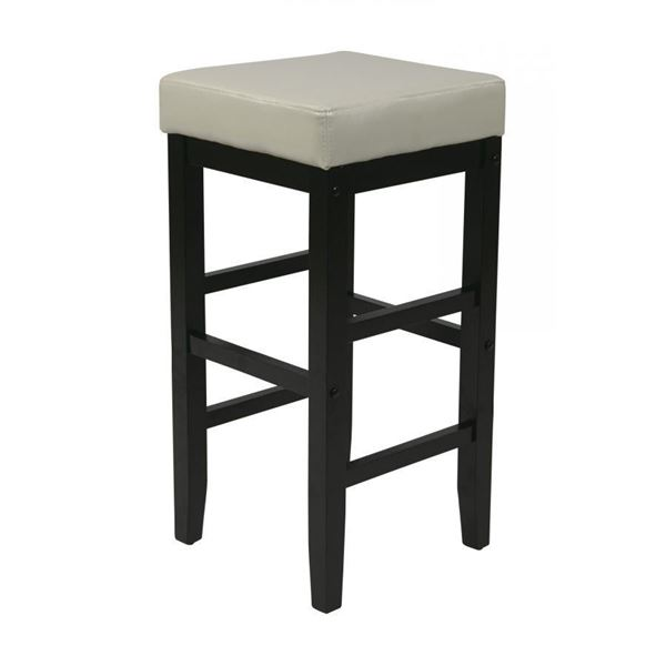 Picture of 30-Inch Squareuare Cream Faux Leather Barstool *D