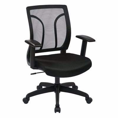 Picture of Screen Back Chair Mesh Seat Adjustable Arms EM50727-3 *D