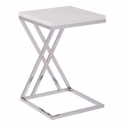 Picture of Wallstreet White Side Table *D