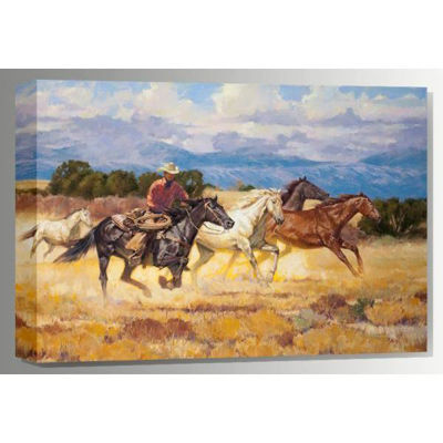 Picture of Running the Saddle Bunch 36x24 *D
