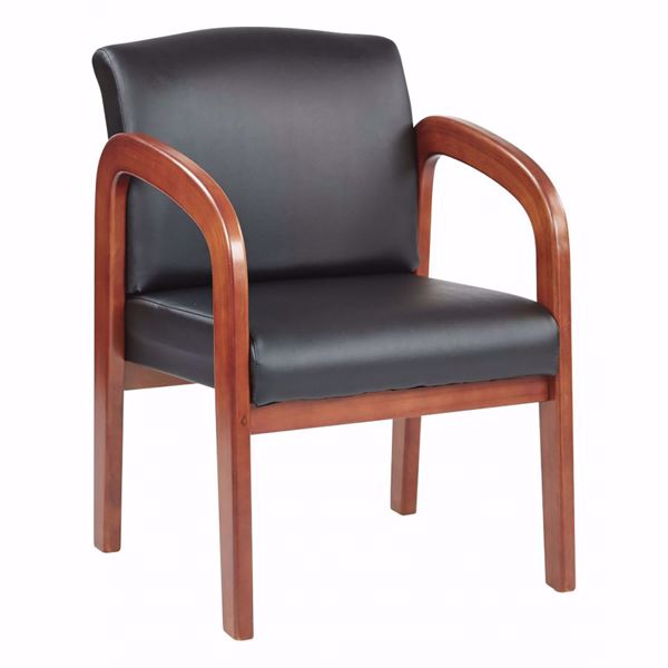 Picture of Black Faux Leather Office Chair WD380-U6 *D