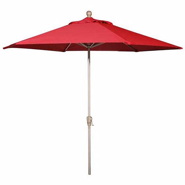 """Picture of 9"""" Umbrella Push-Tilt - Really Red"""
