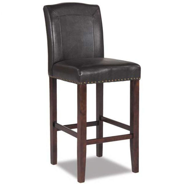 "Picture of 30"" Brown Faux Leather Barstool"