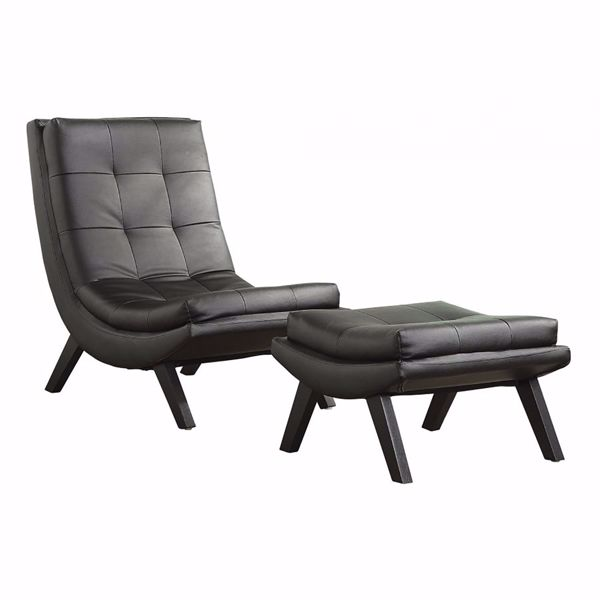Picture of Black Tustin Lounge Chair & Otto *D