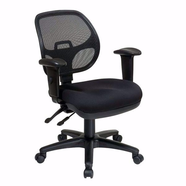 Picture of Black Ergonomic Progrid Off Chair 29024-30 *D