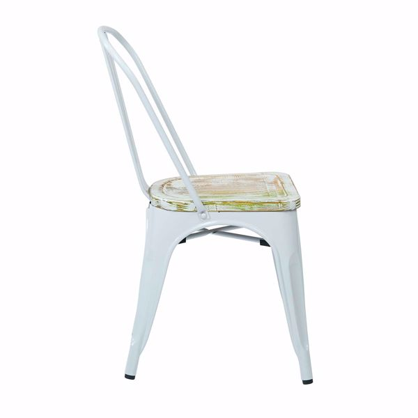 Picture of Bristow White Metal Chair, 4-Pack *D