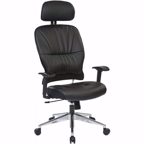 Picture of Black Eco Leather Office Chair *D