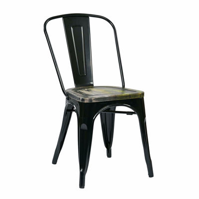 Picture of Bristow Black Metal Chair, 2-Pack *D