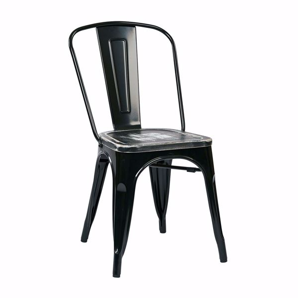 Picture of Bristow Black Metal Chair, 4-Pack *D