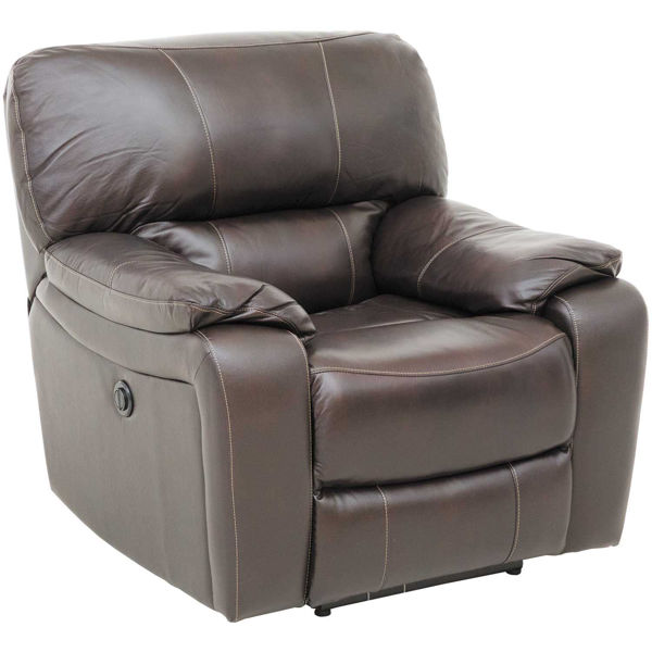 Picture of Wade Brown Top Grain Leather Power Recliner
