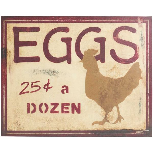 Picture of Eggs Canvas