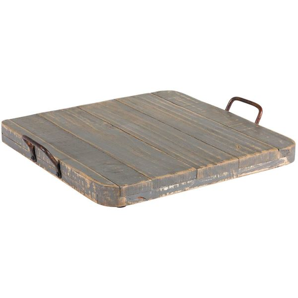 Picture of Vintage Tray With Handles Gray