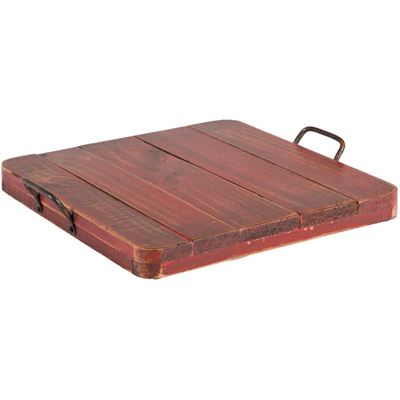 Picture of Vintage Tray With Handles Red