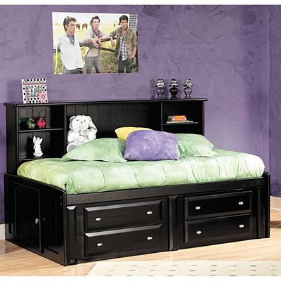 Picture of Black Laguna Twin Roomsaver Bed With Underbed Storage