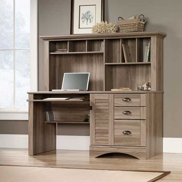 Picture of Sauder Harbor View Computer Desk w/Hutch